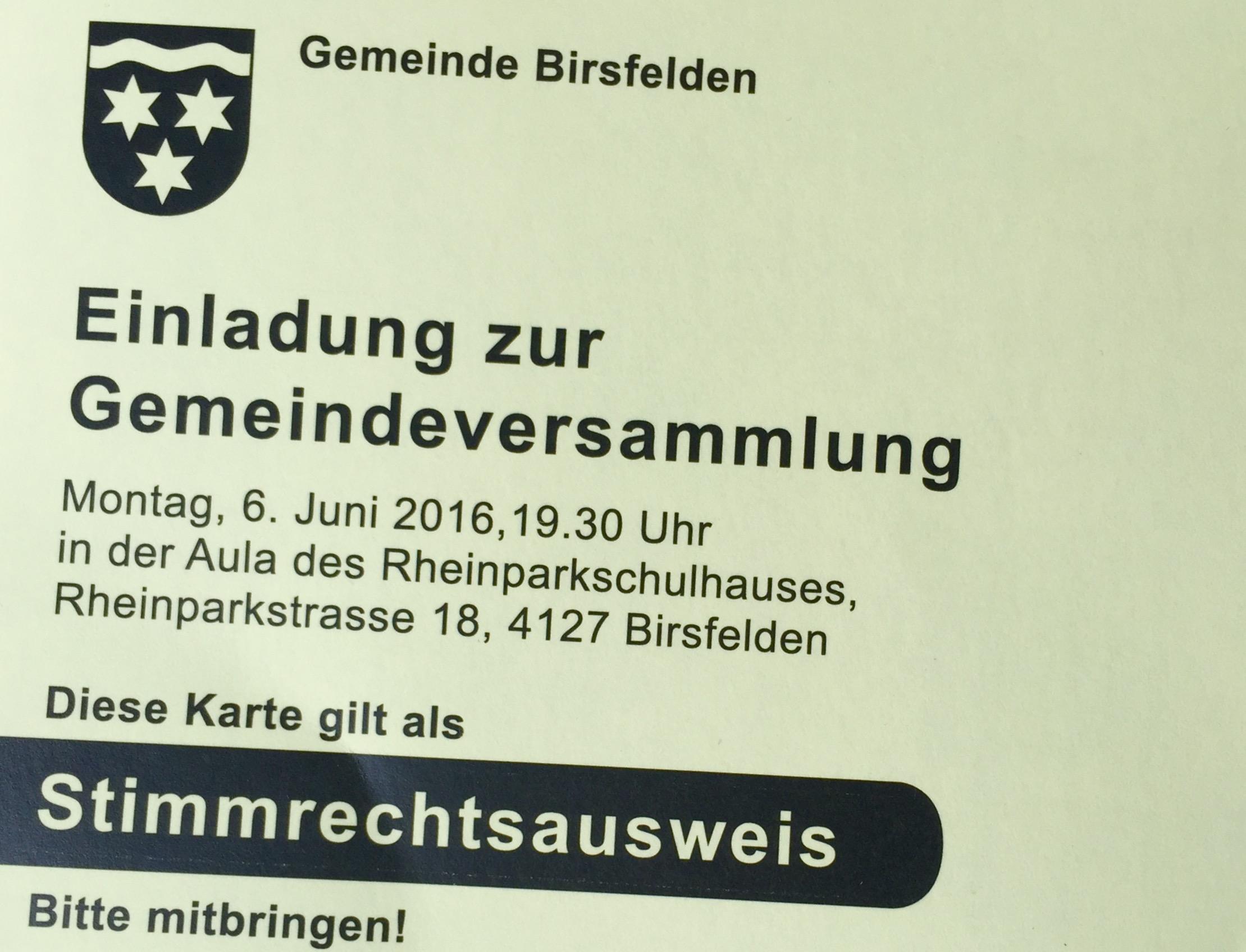 Gemeindeversammlung 3/2019