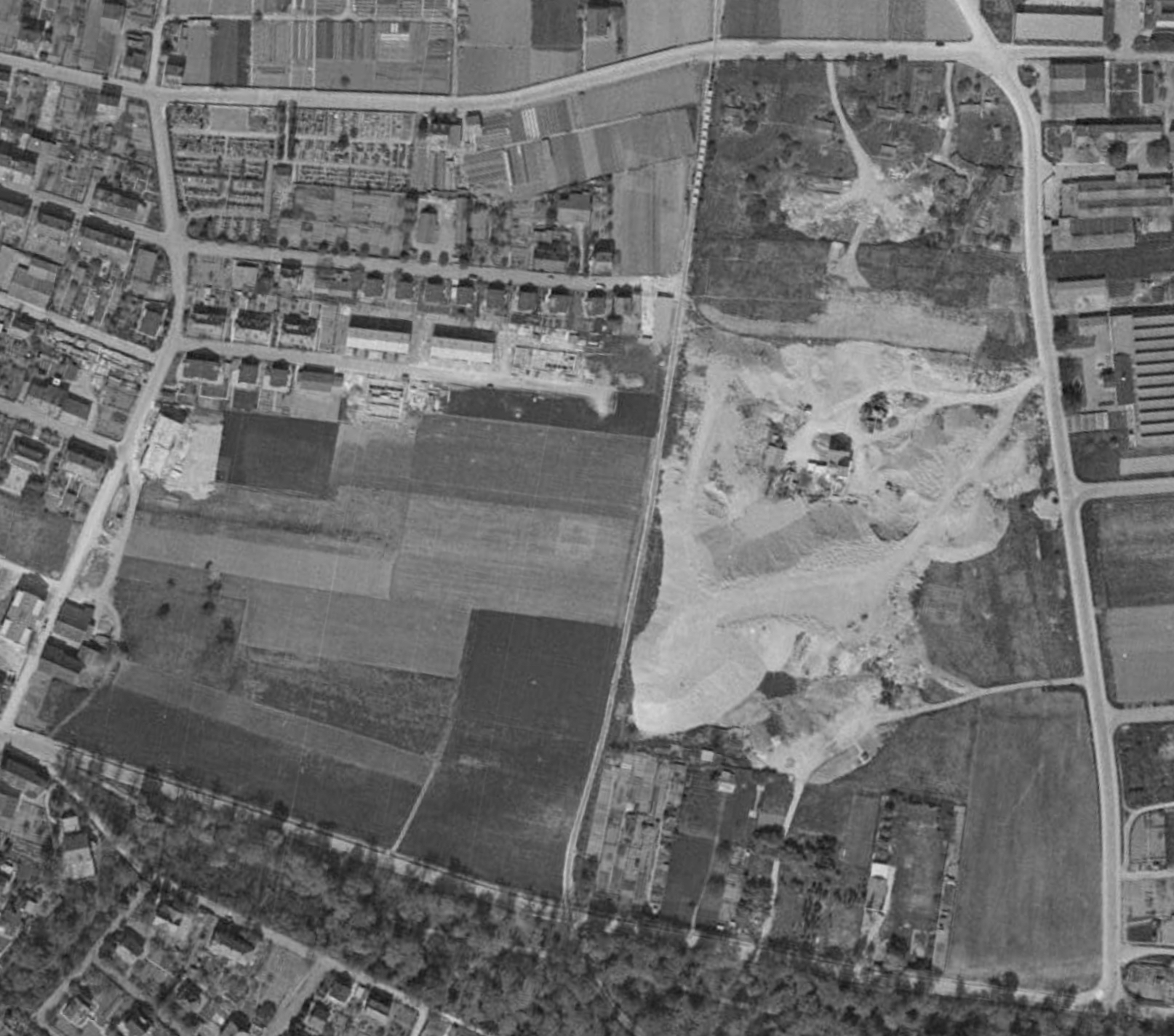 Luftbild Deponie 1953